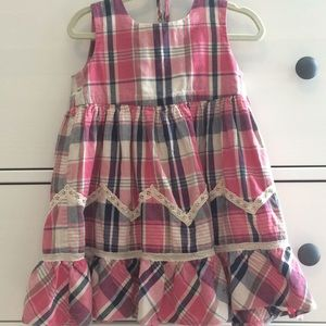 Plaid dress with bloomers